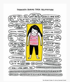 meditation yoga funny cartoongemma correll  yoga