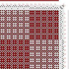 Hand Weaving Draft: Swedish Lace, , 4S, 4T - Handweaving.net Hand Weaving and Draft Archive