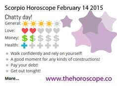 Chatty day for #Scorpio on Feb 14th #horoscope ... http://www.thehoroscope.co/horoscope/Scorpio-Horoscope-today-February-14-2015-2243.html