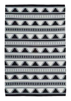 CAMP RUG 8x10 triangle black white grey aztec by PatternSociety $349