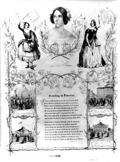 Poster of Jenny Lind's first engagement in New York, 1850. Public Domain, artist unknown. From the Library of Congres