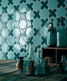Deep Green Star and Cross Accent Wall | Installation Gallery | Fireclay Tile