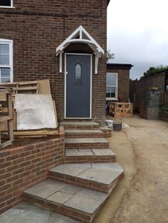 Driveway and front of house - work in progress