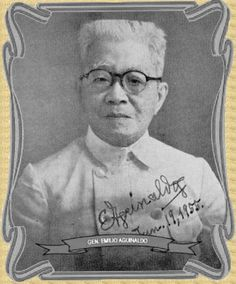 Photo of Gen. Emilio Aguinaldo in He was 85 years old at that time/ . Emilio Aguinaldo, Boxer Rebellion, Philippines Culture, Filipiniana, American War, Pinoy, Military History, Vintage Pictures, Filipino