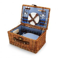 PICNIC TIME: Throw a romantic picnic under the fireworks with the help of this classic Wicker Picnic Basket from C. Wonder ($128, cwonder.com).