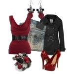 Dark Red and Gray - Polyvore