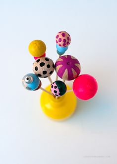 DIY Painted Bead Drink Stirrers via Love From Ginger