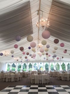 60 Cream, soft pink, lavender, mocha paper lanterns