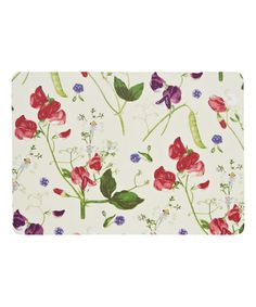 White Sweet Pea Cork-Backed Place Mat - Set of Four #zulily #zulilyfinds