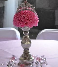 Delightful I Like The Idea, And The Candy Around The Bottom. Simple, Pretty,. Disney Princess  Centerpieces