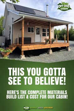 We have spent the past few months building a truly one of a kind solar power off grid home. We're not only giving you the step-by-step HOW TO DIY instructions but the complete cost breakdown and materials list! REPIN and share if you feel our efforts wort
