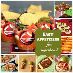 TONS of easy appetizers for your super bowl party. pin this and be sure to read it before shopping... #superbowl