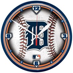 Detroit Tigers Baseball Wall Clock for the Man Cave!