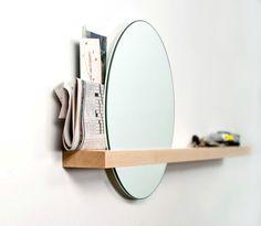 Als ik een interieur foto zie met een ronde spiegel blijf ik altijd langer kijken, zo mooi vind ik ronde spiegels. Ze trekekn als vanzelf de aandacht.