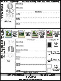 Daily single subject lesson plan template elementary lesson plan lesson plan template with ccss attached for reading writing math saigontimesfo