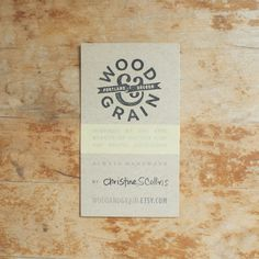 Wood & Grain Business Cards