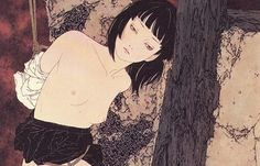 Takato Yamamoto - Japanese Illustration - Heisei Estheticism - A Style meant for fantasy sensual and period novels that explore similar themes of darkness metamorphosis love and death. Japanese Art Modern, Japanese Prints, Renaissance Paintings, Renaissance Art, Japanese Illustration, Illustration Art, Ero Guro, Fanart, Mystique
