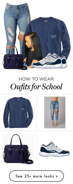 """Untitled #1059"" by bubblesthegr8t on Polyvore featuring Vineyard Vines, Kate Spade and Retrò"