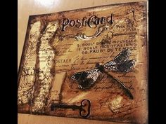 Mixed Media Process Series - 28 Page Mini Art Journal -- Page #1 - YouTube