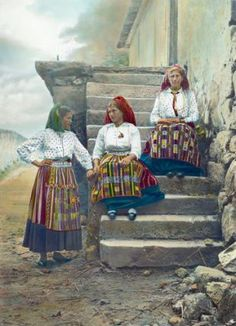 Viana do castelo : Traje de Afife Minho, Great Paintings, Azores, Old Postcards, People Around The World, Old Pictures, Traditional Outfits, Country, Folk Clothing