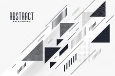 Modern abstract triangle and lines composition background Free Vector Black And White Background, Geometric Background, Geometric Art, Background Patterns, Black White, Line Patterns, Graphic Patterns, Backgrounds Free, Abstract Backgrounds