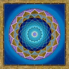 Blue mandala - throat healing.