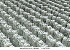 Big Stack of Money | Big stack of money 100 dollar bills - stock photo