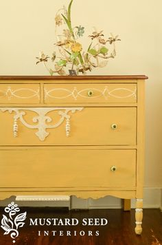 Miss Mustard Seed Yellow Painted Dresser