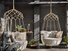 What could be more peaceful and relaxing than spending quality time outdoors with a cup of coffee or a glass of wine in hand? The Roberti garden collection offers a view that never looked or felt better. What could be better than relaxing on Roberti's Portofino Swing Sofa suspended from a tree or a porch...