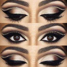 Interesting Makeup Ideas for Dark Brown Eyes ★ See more: https://makeupjournal.com/dark-brown-eyes-makeup-ideas/ #beautymakeupforbrowneyes