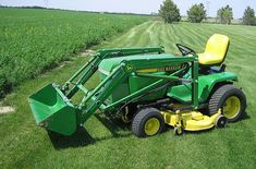 Do-it-yourself CAD Plans by P. Loaders, Backhoes for garden tractors, log splitters. Sample pictures and videos of those. John Deere Garden Tractors, Lawn Tractors, Kubota Tractors, Adventure Time Gif, Adventure Quotes, John Deere 400, Garden Tractor Attachments, Tractor Loader, Compact Tractors
