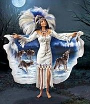 Silver Moon Native American Indian by Cindy McClure 2008