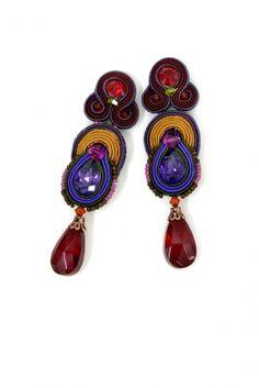 Elektra crystal drop earrings by Dori Csengeri #DoriCsengeri #dropearrings #jeweltones #fallcolors #fallfashion
