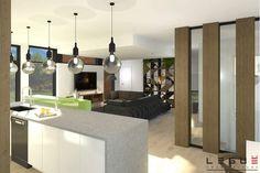 Plan de Maison Moderne Ë_137 | Leguë Architecture Home Design Floor Plans, House Floor Plans, Plane, Best Investments, Home Renovation, House Design, Ceiling Lights, Flooring, How To Plan