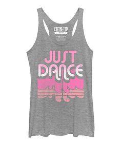 Look what I found on #zulily! Heather Gray 'Just Dance' Racerback Tank #zulilyfinds