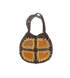 Vintage 60s Bag - 60s Shoulder Bag - Leather Bag - Boho Leather Bag - 60s Boho Bag - Hippie Purse - Brown Leather Purse - 60s Leather Bag