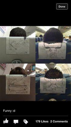 Headrest cover illusion