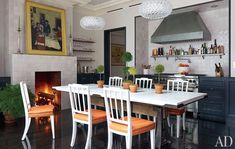 Brooke Shield's Manhattan townhouse kitchen