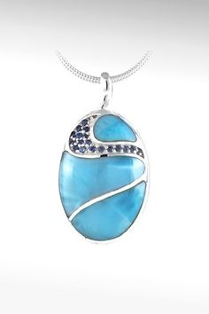 Larimarket - MarahLago Isla Collection Larimar Necklace with Blue  $342.00
