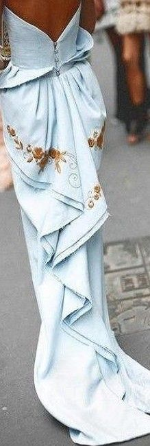 Maximova Marina in Ulyana Sergeenko couture dress♥✤   KeepSmiling   BeStayBeautiful
