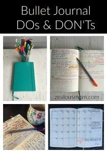 After using my Bullet Journal for a while now, some clear DOs and DON'Ts have emerged. These are not research-based, but they are experience-based. If you've never heard of this type of analog system, you should probably head over to Bullet Journal 101, but if you've been using a Bullet Journal for any length of … … Continue reading →