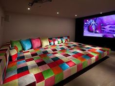 I would never leave the house. I am going to have a movie room in my basement.