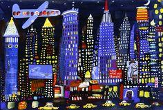 New York Night Sky - Christopher Corr Prints - Easyart.com