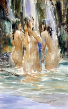 Bathers-artist-jun-martinez-watercolor-philippines.jpg (2552×4080)