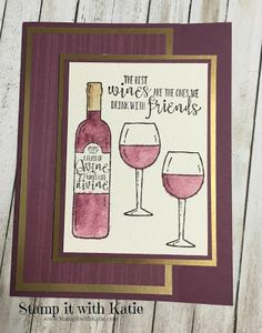 Stamp It with Katie: Wine and Friends