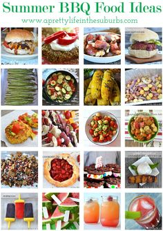 20 Summer BBQ Food Ideas {A Pretty Life}/ just click on the link go to A Pretty Life and under the picture click the number of the recipe you desire.