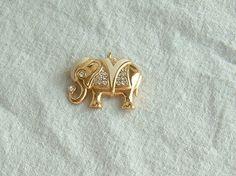 Vintage Kenneth Jay Lane KJL Royal Elephant by DivaInTheDell, $19.95