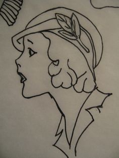 BLURT Blogger: Free 1920's redwork or line art embroidery patterns Part 2