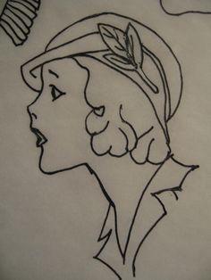 BLURT Blogger: Free 1920's redwork or line art embroidery patterns Part 2