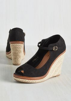 You Know the Espadrille Wedge in Black. Another party invitation? #black #modcloth